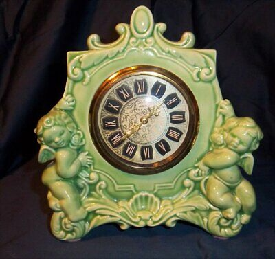 Vintage Minxie Mantle Clock Cherubs
