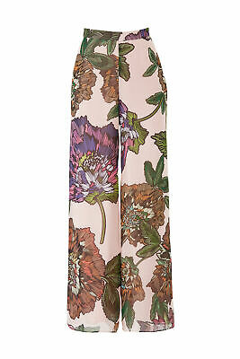 Badgley Mischka Women's Pink US Size 10 Floral Wide Leg Dress Pants $340- #593