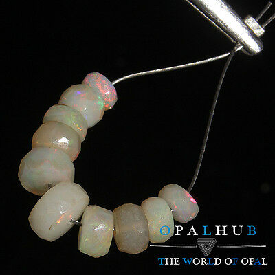 Natural Ethiopian Opal Jewelry Blue Faceted Beads Bracelet Welo Opal Beads SY267