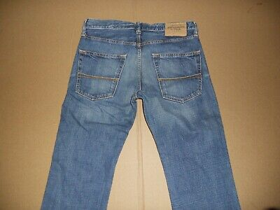 "New ABERCROMBIE & FITCH ""Remsen"" Slim Straight Blue Acid Jeans Men Sz 31x32"