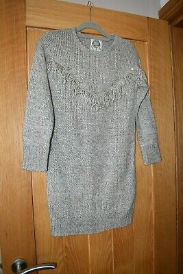 Girls Grey Jumper Dress From Young Dimensions - Age 10 - 11 Yrs - Yd