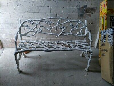 Antique Rustic Garden bench 1860's, Cast Iron.