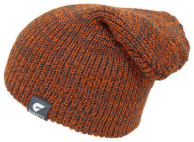 Greater Western Sydney GWS Giants AFL Supporters Knit Snow Slouch Slouche Beanie