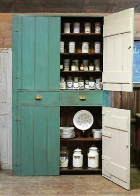 Victorian Primitive Scullery Cupboard Vintage Chippy Alcove Housekeeper cupboard
