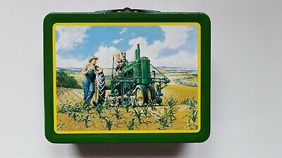 John Deere Tractor  LUNCHTIME Tin Litho Metal Lunchbox