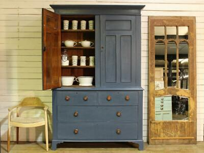 Large Old Painted Victorian Cabinet Dresser Housekeepers Cupboard Salvage Chippy