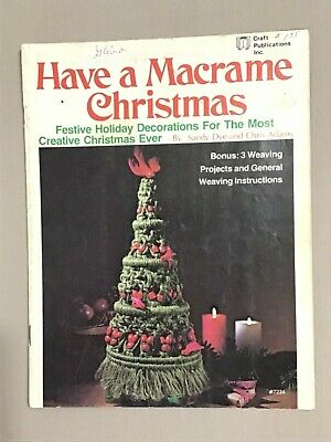 Have a Macrame Christmas, Vintage 1977, macrame pattern book