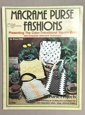 Macrame Purse Fashions vintage 1978, macrame pattern book