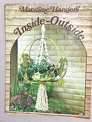 Inside-Outside Macrame Hangers, Vintage 1976.macrame pattern book