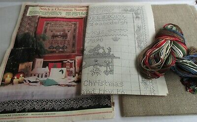 Stitch a Christmas Sampler,Vintage Counted Cross Stitch Kit, 1987,McCall's