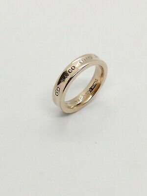 Authentic Tiffany & Co 1837 Concave Band ring Rubedo Metal EU47 US4