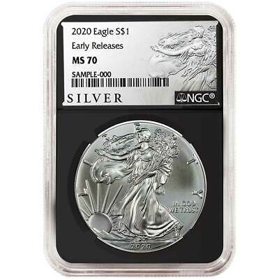 2020 $1 American Silver Eagle NGC MS70 ALS ER Label Retro Core