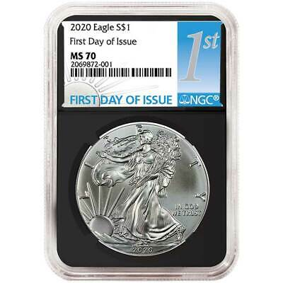 2020 $1 American Silver Eagle NGC MS70 FDI First Label Retro Core