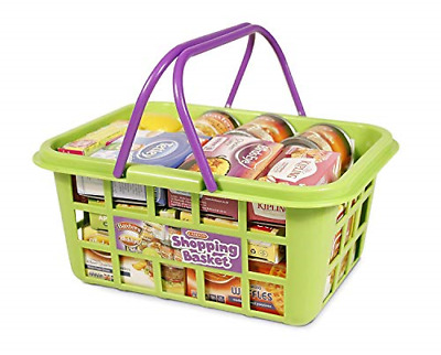 Kids Shopping Basket Food Grocery Pretend Childrens Play Toy Plastic Playset NEW