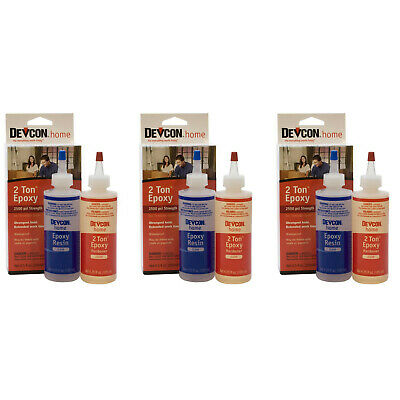 3 Pack Of Devcon 33345 S-33 2 Ton Crystal Clear Epoxy
