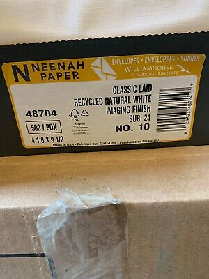Neenah Classic Laid Natural White Business Envelopes 500 Ct