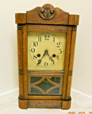 Clock Country Oak Clock With Pendulum Movement Wall Hanging or Free Standing!