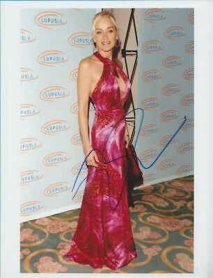 SHARON STONE in person signed glossy PHOTO 8x11 inch, 20/27 cm  AUTOGRAPH