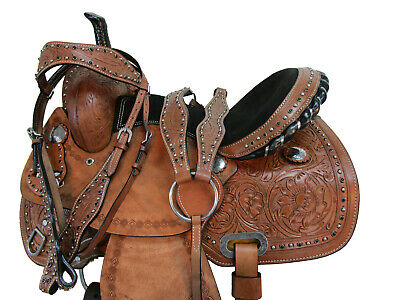 Orlov Hill Leather Co Hand Tooled Cross Saddle Barrel Racing Child Kids Youth Pony Trail Youth 12 13