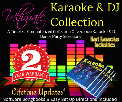 Professional Karaoke Songs and DJ Collection - USB Hard Drive - Lifetime Updates