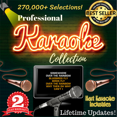 Karaoke Collection Hard Drive - Licensed - Monthly Updates! 270,000+ Selections