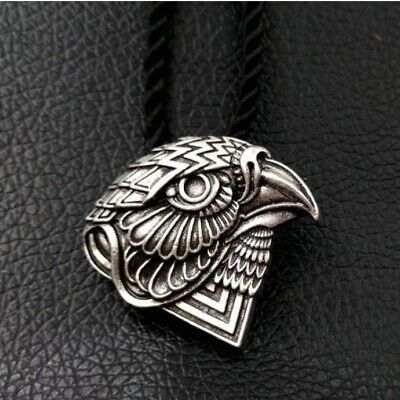 Horus Falcon Head Pendant Necklace w Gift Pouch, Hawk Ancient Egypt Egyptian God