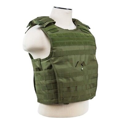 NcStar VISM OD GREEN Tactical MOLLE Operator Plate Carrier Body Armor Chest Rig