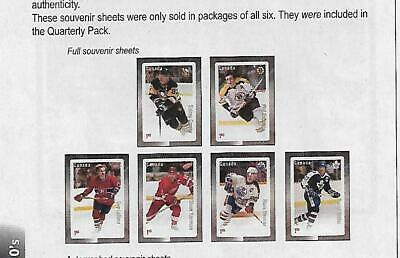 2016  S/Sheet, Great Canadian Forwards, Uc# 2948/53, Set Of 6 Sealed, Mnh
