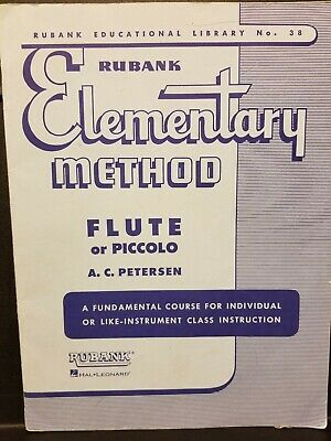 Rubank Elementary Method Flute or Piccolo, Petersen, No.38, Used