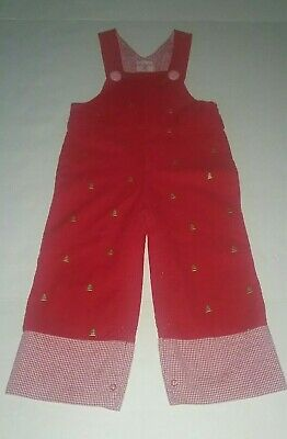 Mud Pie Holiday Christmas Tree Overalls 2T-3T