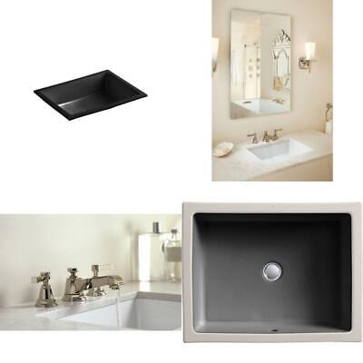 Verticyl Vitreous China Undermount Bathroom Sink With Overflow Drain In Black Bl