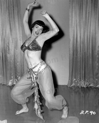 8x10 Print Sexy Model Pin Up Bettie Page Exotic Belly Dancer Costume #3349