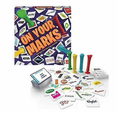 ON YOUR MARKS Find The Logo Badge Quiz Card Fun Party Game Goliath 2-5 Plyrs 7+