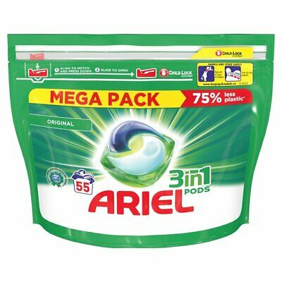Ariel 3 in 1 Pods Washing Capsules - 54/55 Washes