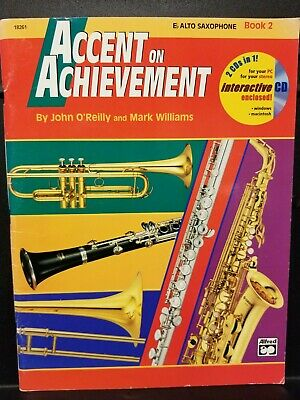 Accent on Achievement, Eb Alto Saxophone Book 2 with CD, 18261 O'Reilly Williams
