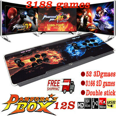 Pandoras Box 12s 3188 In 1 Video Games Arcade Console Support 2 Players PK Fight