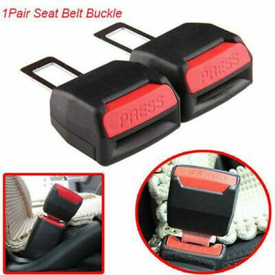 Universal Car Safety Seat Belt Buckle Extension Extender Clip Alarm Stopper 2X