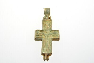 Byzantine bronze encolpion cross Jesus Christ and Virgin Mary 6-8th century AD