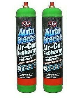 2X CAR VAN AIR CON CONDITIONING RECHARGE TOP UP REFILL GAS - DIY - STP R134a