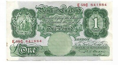 Beale one pound note 1950. lovely crisp old note.