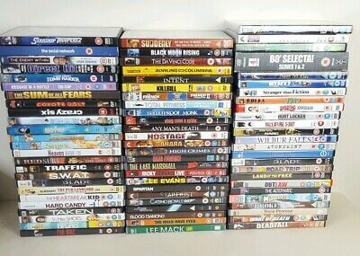 Job Lot of 75 x DVDs Action Drama Comedy Horror Films TV Car Boot Resale
