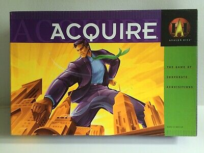 Acquire 1999 Avalon Hill Board Game by Hasbro Games Magazine Hall Of Fame Winner