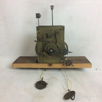 Old English Longcase Grandfather Clock Movement For Spares Or Repair