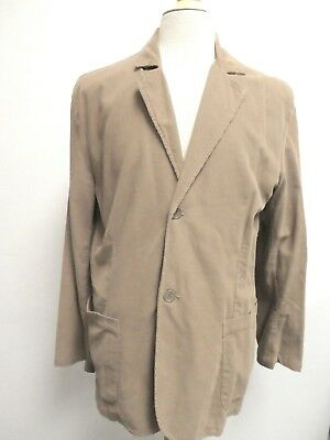 James Perse Light Brown Tan Corduroy Unlined Sport Coat Blazer Jacket 3 L