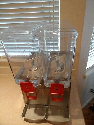Cecilware 2D/5.6 Arctic Double 5.6 Gallon Cold Beverage Drink Dispenser-Used