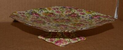 """Royal Winton Grimwades """"Summertime"""" Chintz footed cake / desert plate"""