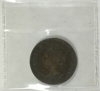 Canada 1891 Small Leave  SM Date ICCS   Large Cent  Nice Coin Solid VF Plus