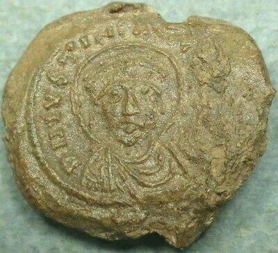 Byzantine Lead Imperial Seal,Justinian . Bust / Text