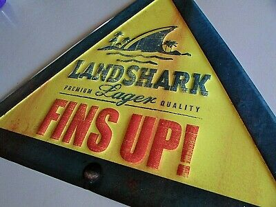 NEW Land Shark Lager Beer Metal Tin Tacker Craft bar sign Jimmy Buffet Margarita