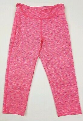 Gap Fit Girls Youth Small 6-7 Pink Capris Athletic Leggings Pants *Flaw